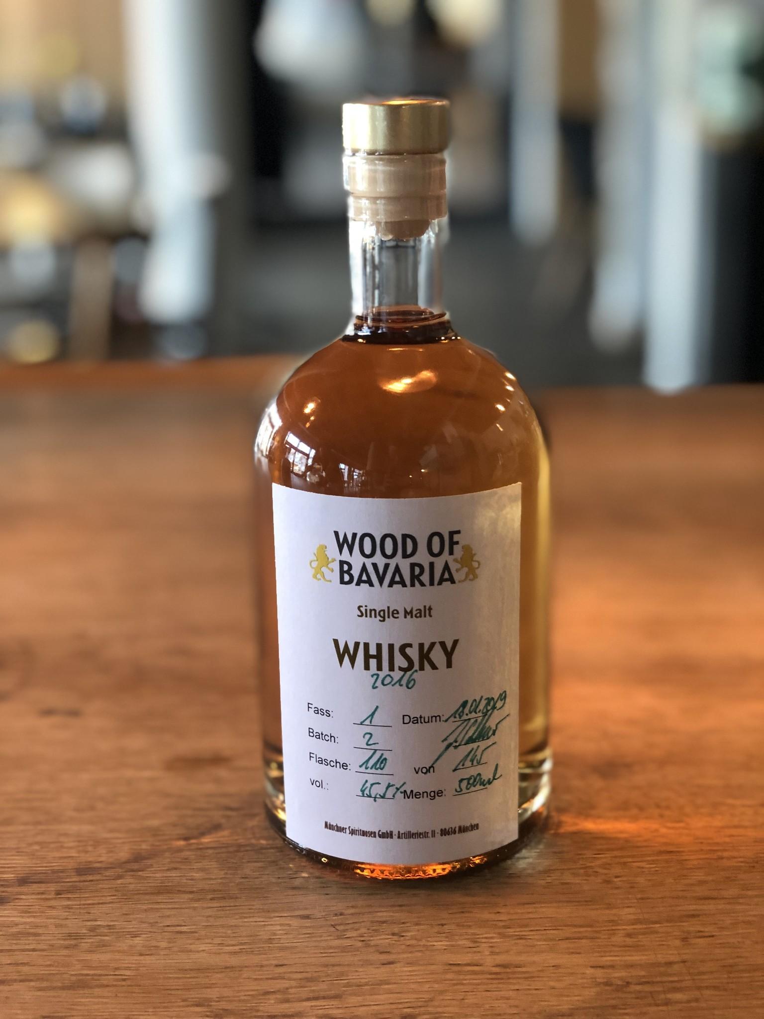 Wood of Bavaria - Whisky 3 Jähriger Single Malt Whisky