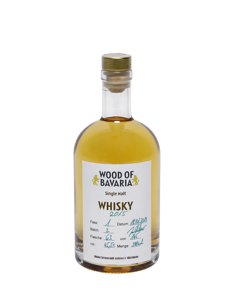 Wood of Bavaria - Whisky 3 Jähriger Single Malt Whisky - 500 ml