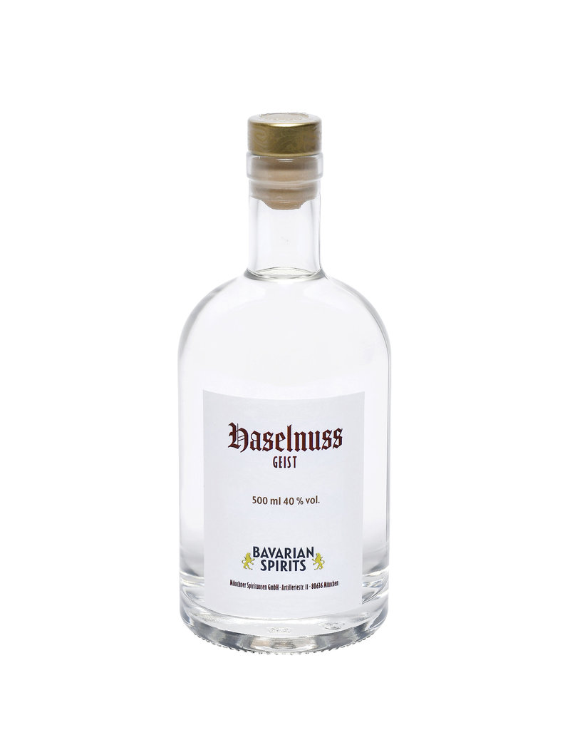 Brände, Liköre & Geiste Bavarian Spirits - feiner Haselnuss Geist - 500 ml, 40,0 % vol.