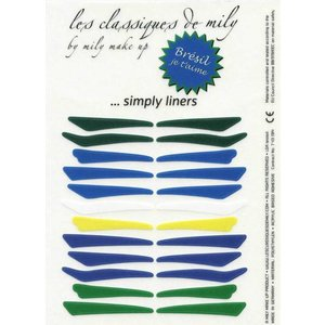 MILY No.21 Stick on eyeliners Brazilian colors - 4 shapes