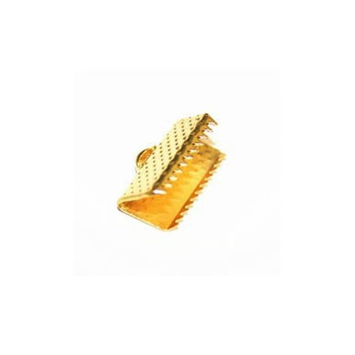 10 pcs Fold Over Cord End Gold 10mm