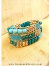 5 gram Bugle Beads Aqua Blauw 6x2mm