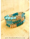 5 grams Bugle Beads Aqua Blue 6x2mm