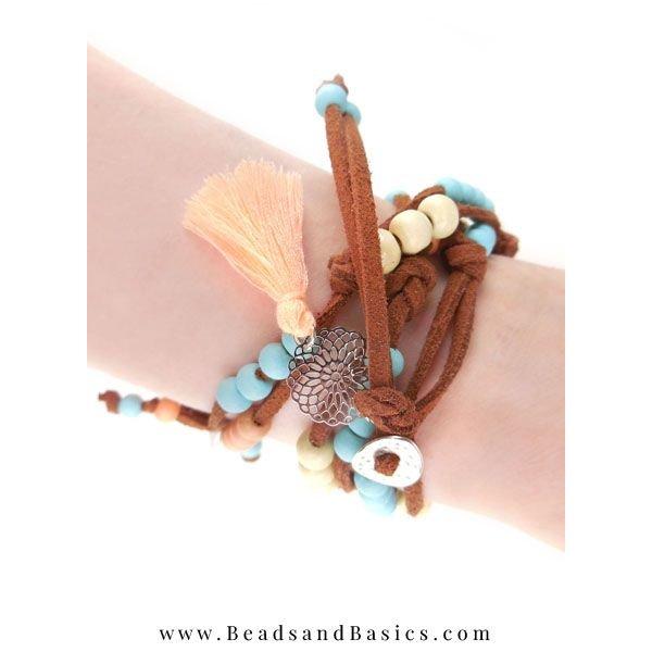 Boho Statement Armband Maken Met Suede Veters - Inspiratie