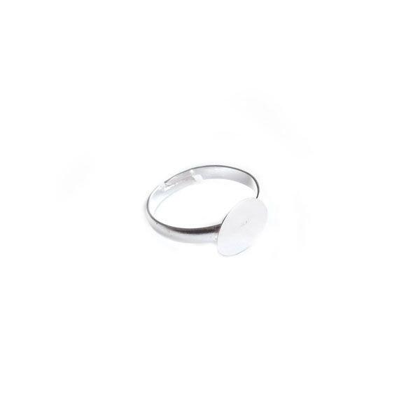 Verstelbare Ring Zilver 20mm, 4 stuks
