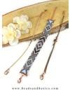 Miyuki Beadloom Bracelet with Boho Pattern