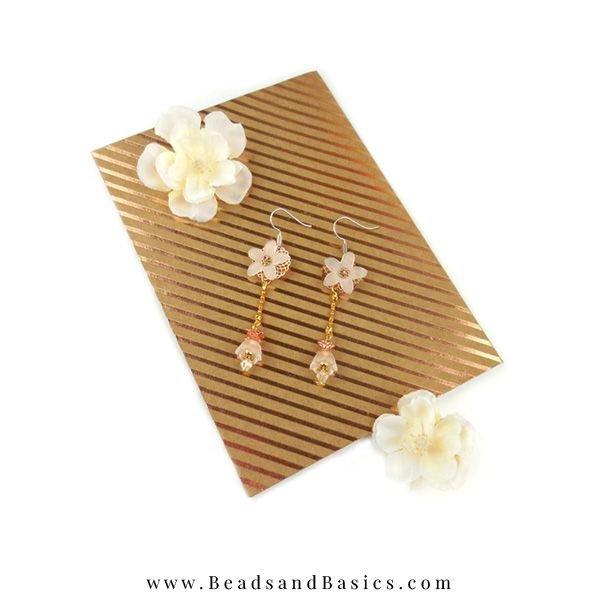 Self Flower Earrings Making Beads