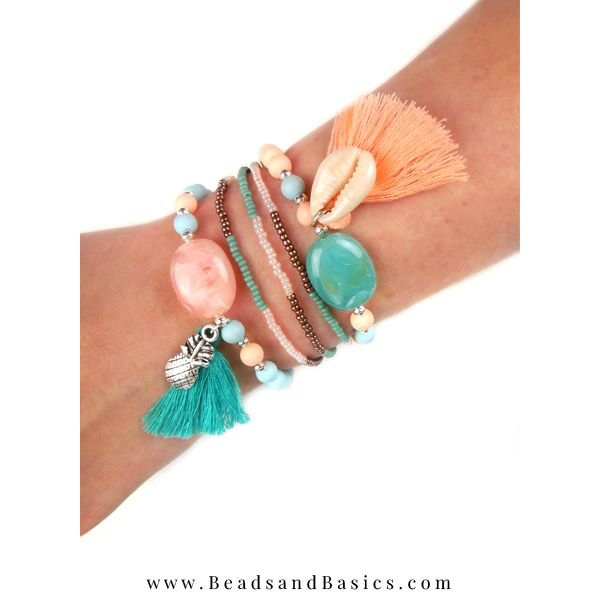 Summers Bracelet Set With Pineapple Charm