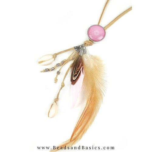 Pink Boho Necklace