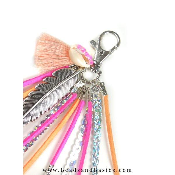 Sleutelhanger Maken - Roze Met Oranje