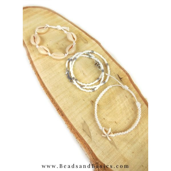 Schelpjes Armbandje Maken Van Macramé Draad