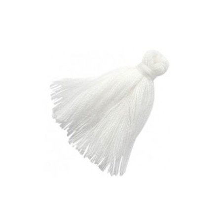 Tassel White 30mm, 5 pieces