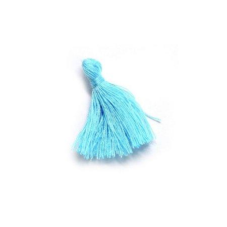Kwastje Aqua Blauw 30mm, 5 stuks