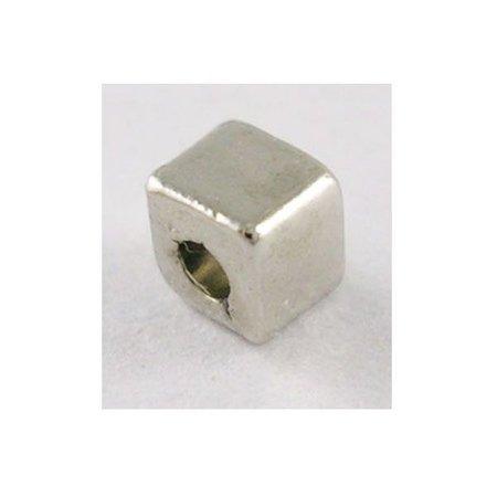 20 Stuks Vierkante Spacer Beads Zilver 3x3mm