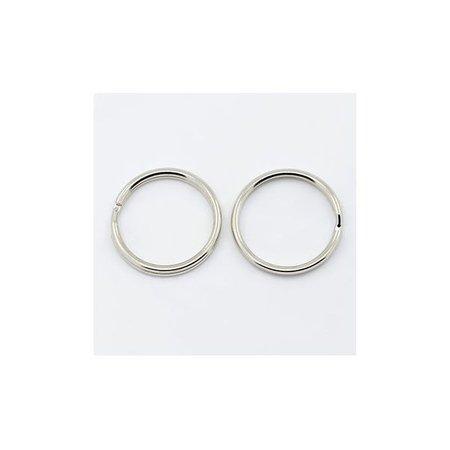 10 stuks Sleutelhanger Ring Zilver 20mm