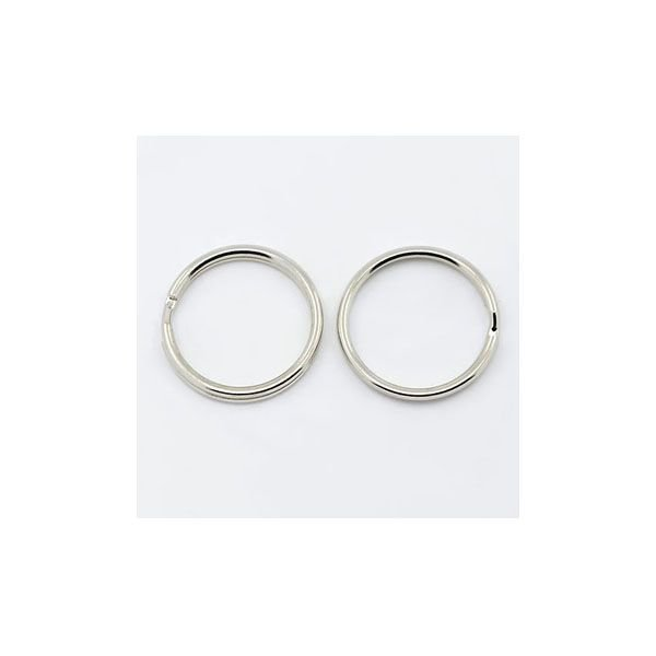 Keychain Ring Silver 20x2mm, 10 pieces