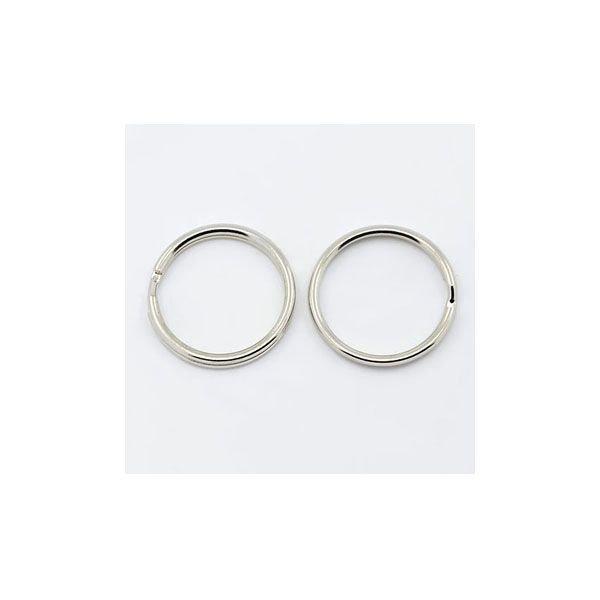 Sleutelhanger Ring Zilver 20mm, 10 stuks
