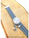 Zelf Een Armband Maken Van Suede Veters Met Schuiver - Blauw