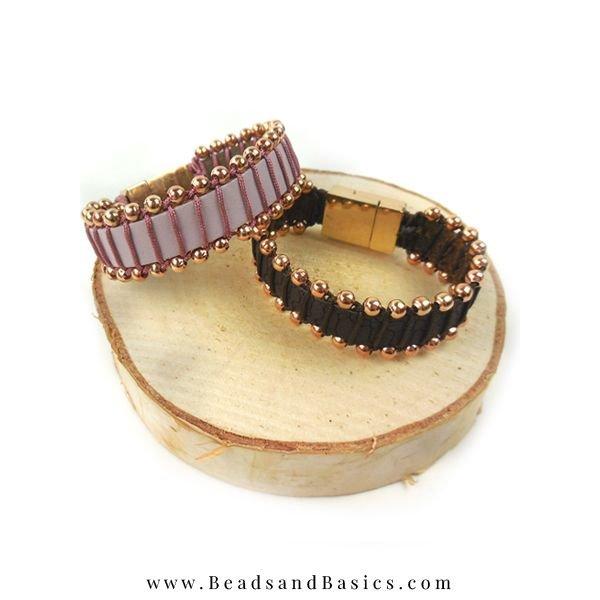Macrame Wire Wrap A Leather Bracelet