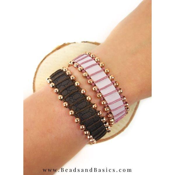 Macrame draad Wikkelen Om Een Armband Van Leer