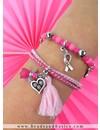 Pink Ribbon Armband Setje Zelf Maken Met Bedels