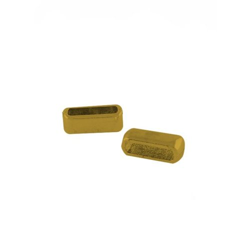 Slider Gold For Flat Leather 10mm, 8 pieces