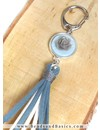 Create A Blue Keychain With Suede