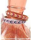 Make A Leather Bracelet With Fishbone Braid - Lilac
