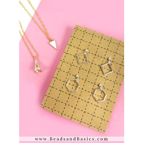 Minimalist Earrings And Necklace Making - Gold And Silver