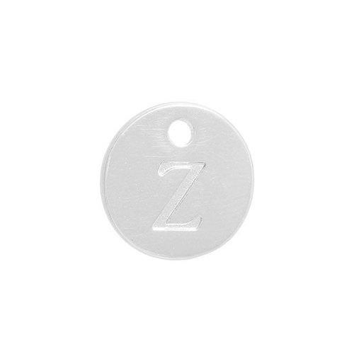 Initial Bedel Zilver 12mm Letter 'Z'