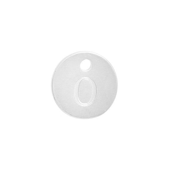 Initial Charm Silver 12mm Letter 'O'