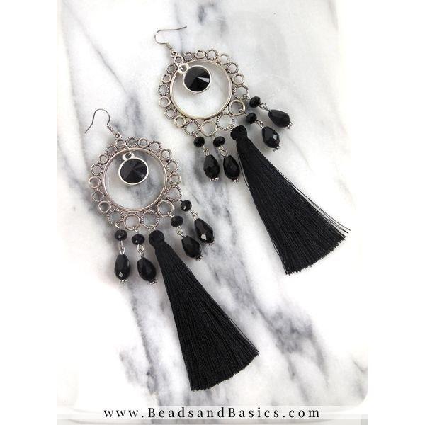 Statement Oorbellen Maken - Zwart Met Zilver