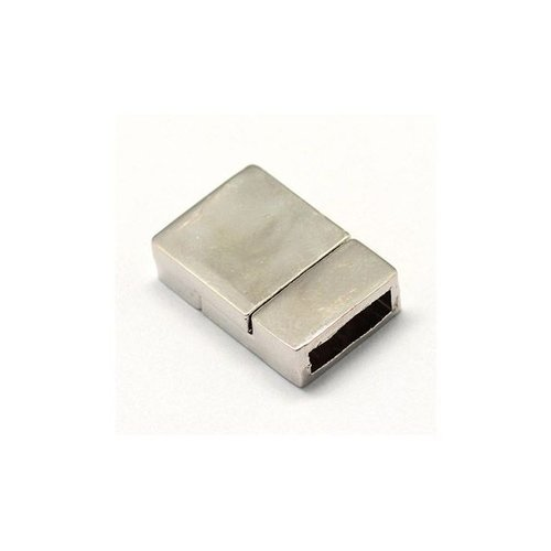 Magnetic Seal Silver For Flat Leather 10mm