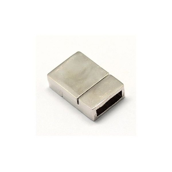 Magnetic Clasp Silver For Flat Leather 10mm