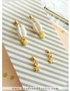 Minimalistische Oorbellen Met Kauri Schelp Kraal En Ster Bedels