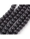 80 pieces Glassbeads Black 6mm