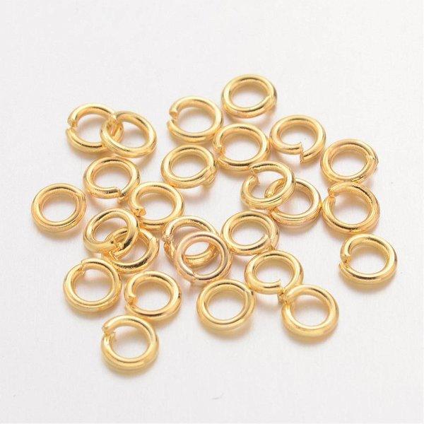 100 stuks jumpringen goud 6mm
