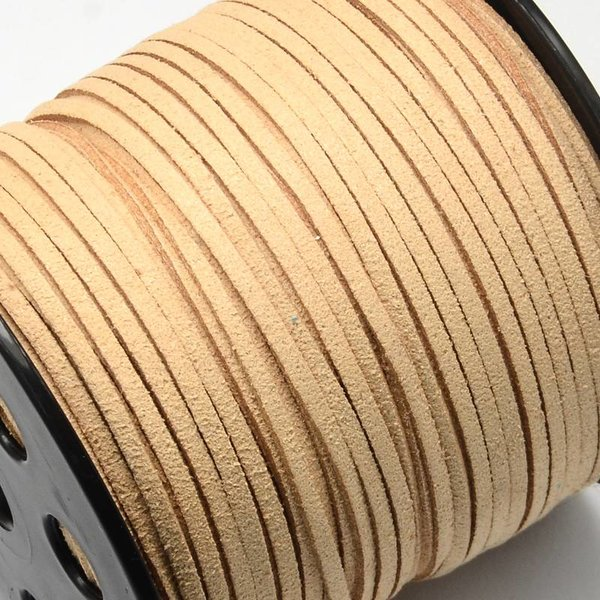 Faux Suede Cord Camel Brown 3mm, 3 meter