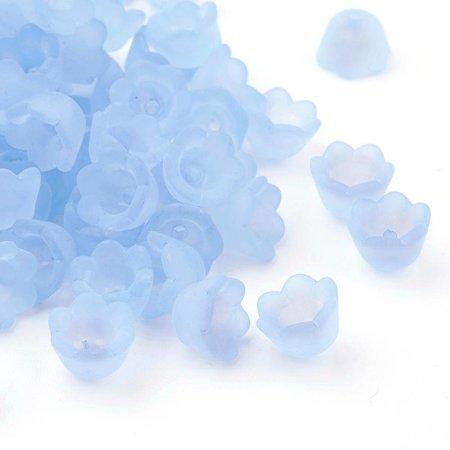 Bloem Kralen Licht Blauw 10x6mm, 10 stuks