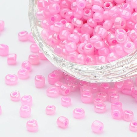 Seedbeads Pastel Pink 4mm, 20 gram