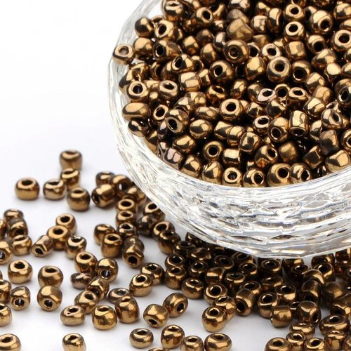 20 grams Seed Brown Metallic 4mm