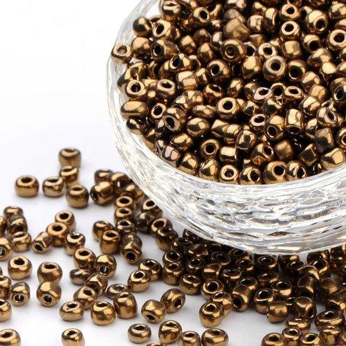 Rocailles Bruin Metallic 4mm, 20 gram