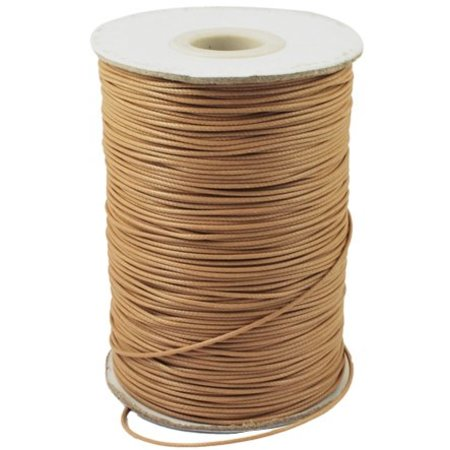 Waxed Cord Camel 1mm, 3 meter