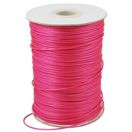 Waxed Cord Deep Pink 1mm, 3 meter
