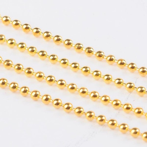 Ballchain Gold 2mm, 3 meter