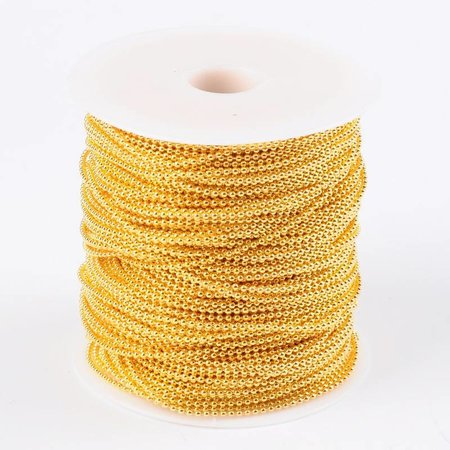 1 meter Ballchain Gold 2mm