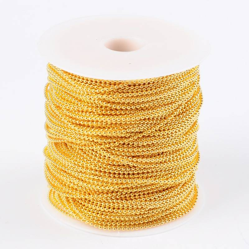 b880486046c51 Ballchain Gold 2mm for Necklaces and Bracelets