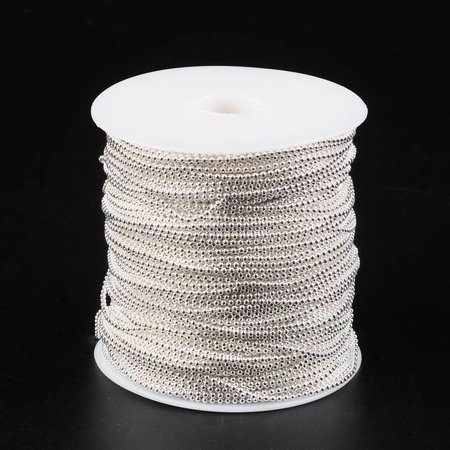 Ball Chain Silver 2mm Nickel Free, per 3 meter