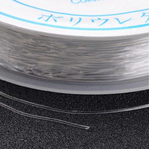 Elastiek Transparant 0.8mm, 8 meter