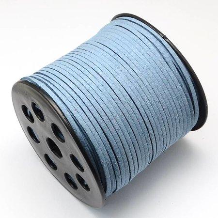 Suede Veter Blauw 3mm, 3 meter